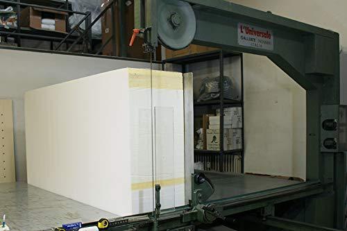 Viglietti Foglio Spugna//Gommapiuma//Poliuretano Espanso INDEFORMABILE Alta DENSITA 21 Media Rigidit/à 100X200 h.2 cm Bianco