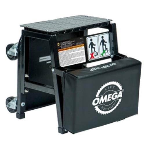 Omega Lift 91305 2 N 1 Mechanics Creeper Seat Step Stool