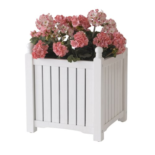 DMC Products Lexington 16-Inch Square Solid Wood Planter,