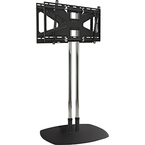 Dual Pole Floor Stand with Back to Back Adapter and 2 Tilting Mount Flat Panel ()