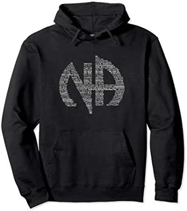 Narcotics Anonymous Logo Slogans NA AA Gift Hoodie