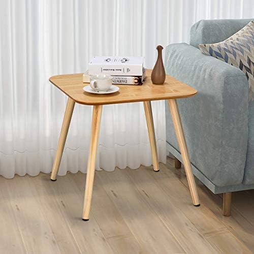2020 Korting Vierkante salontafel | sofa bijzettafel | hoeklampenstandaard | houten doos met 2 maten klein en groot, houtnerf, premium MDF, glad oppervlak (vierkant groot)  QP7uURd
