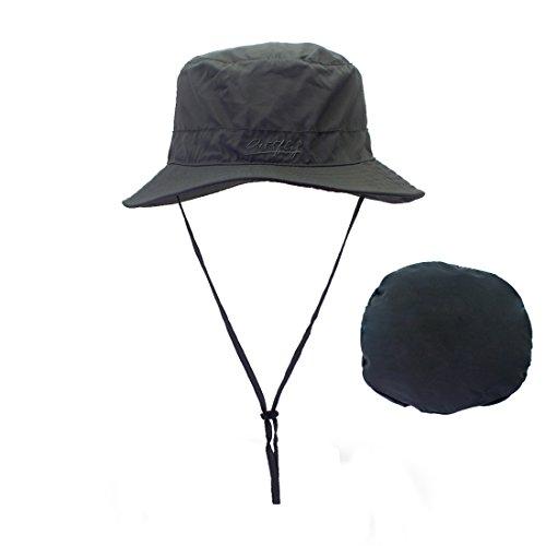 - LAOWWO Bucket Hat - Fishing Sun hat boonie Hat Foldable Summer Wide Brim Hat UPF50+ for Men and Women