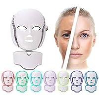 Máscara Led Rejuvenecer Facial Pescoço Acne 7 cores beleza clínica fototerapia