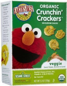 Earths Best Cracker Veg Ssme Street