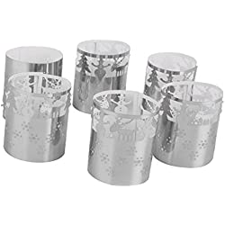 6pcs Led Tea Light Holders Wedding Table Decoration
