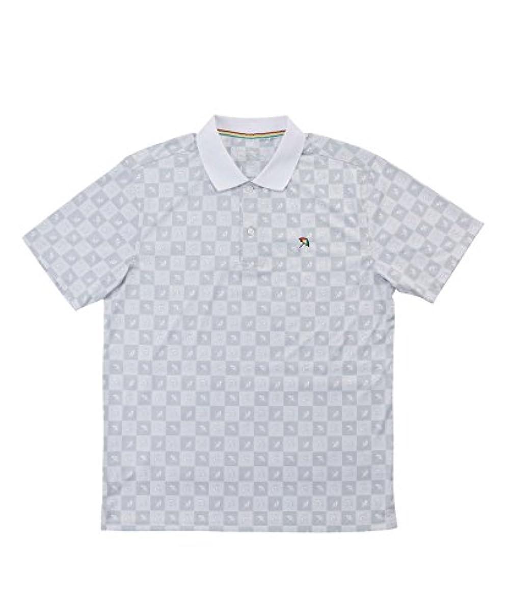 [해외] 아놀드파마 맨즈 골프 폴로 셔츠 반소매풀패턴모노 그램PT반소매 폴로 AP220101H05 WH M