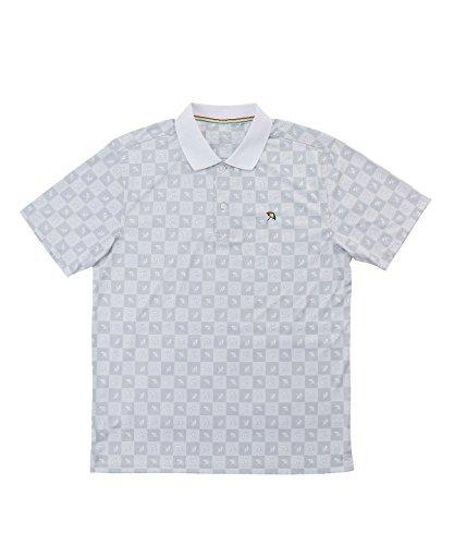 アーノルドパーマー メンズ ゴルフ ポロシャツ 半袖 総柄モノグラムPT半袖ポロ AP220101H05 WH XO
