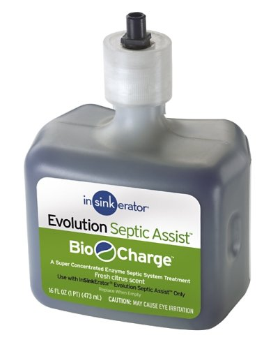 InSinkErator CG Evolution Septic Assist Bio Charge Replacement Cartridge, 16-Ounces, Blue
