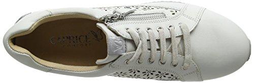White Cordones Caprice Zapatos Derby Nappa 23502 de Mujer 102 Blanco para q8ff6ZnwU