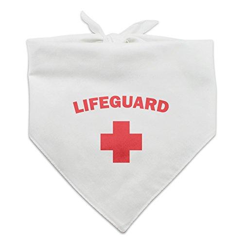 Lifeguard Red and White Dog Pet Bandana - -