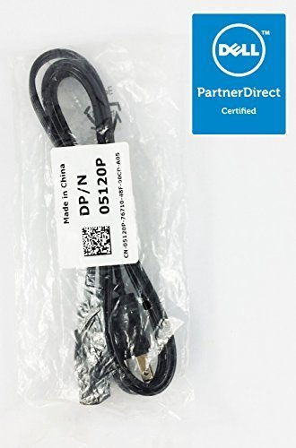 Dell 3-Prong Computer Power Supply Cord For Computers, & Monitors - Standard US Outlet (YVL-PN-1874571)