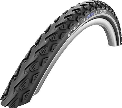 Schwalbe Cruiser (Schwalbe Land Cruiser HS 450 Cruiser Bicycle Tire - Wire Bead - Black-Reflex (Black-Reflex - 26 x 1.75))