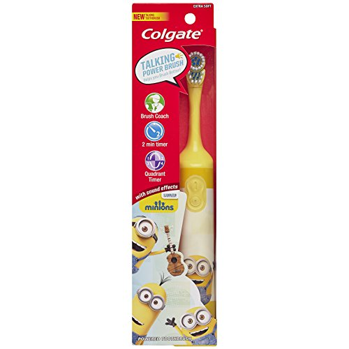 Colgate Kids Minions Talking Battery Powered Toothbrush (Colors may vary) by Colgate