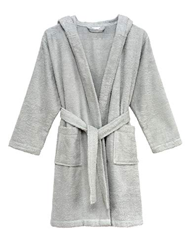 TowelSelections Little Boys' Robe, Kids Hooded Cotton Terry Bathrobe Cover-up Size 6 Glacier ()