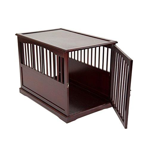 Primetime Petz End Table Kennel, Large, Walnut