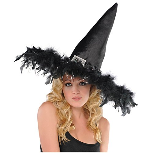 AMSCAN Fashion Witch Hat Halloween Costume Accessories, One -