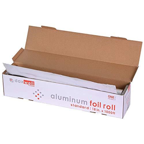 - Daxwell J10003335 Standard Aluminum Foil Roll, 1,000' x 18