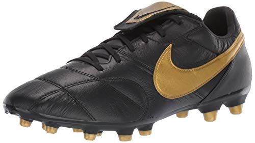Nike Premier II FG Soccer Cleats (4 Big Kid M US, Black/Gold)