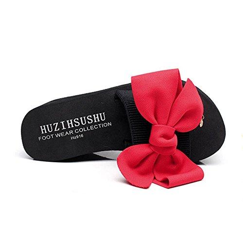 Pantoufles de Décontractées Talons Talon Tongs à Chaussures Chaussures Romaines Talons Chaussures Chaussures à Plates Femme A Sandales Chaussures 7cm Et CHENGXIAOXUAN Plage Pantoufles waxUzqaf