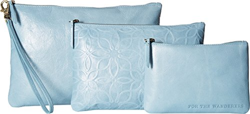 Hobo Women's Triad Embossed Blue Mist One Size by HOBO