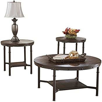 Ashley Furniture Signature Design - Sandling Occasional Table Set - End Tables and Coffee Table -  sc 1 st  Amazon.com & Amazon.com: Ashley Furniture Signature Design - Sandling Occasional ...