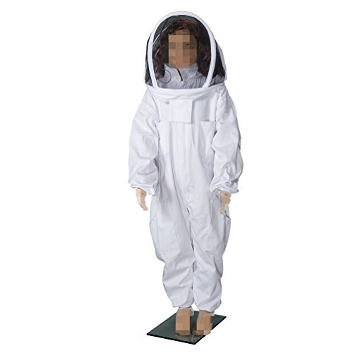 BeeCastle Children's/Kids' Beekeeping Cotton Protective Suit with Fencing Veil for Kids (4.6FT /55 INCH)