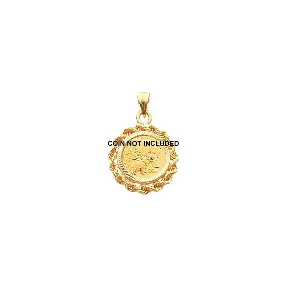 14K Gold Rope Bezel for 1/20oz Chinese Panda Coin New