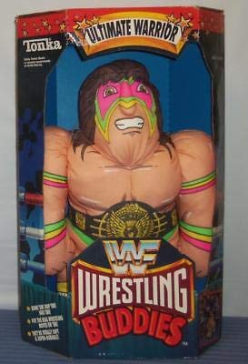 VINTAGE TONKA WWF ULTIMATE WARRIOR WRESTLING BUDDIES PILLOW PLUSH FIGURE