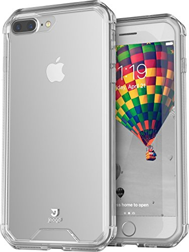 Jaagd iPhone 8 Plus Case, iPhone 7 Plus Case, Hybrid Shock Modern Slim Non-slip Grip Cell Phone Case for Apple iPhone 8/7 Plus (Clear)