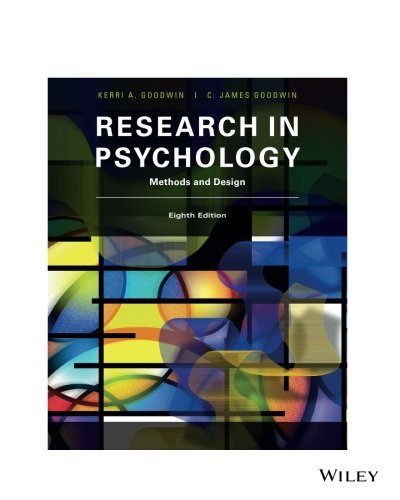 Research In Psychology Methods and Design 8E: Methods and Design