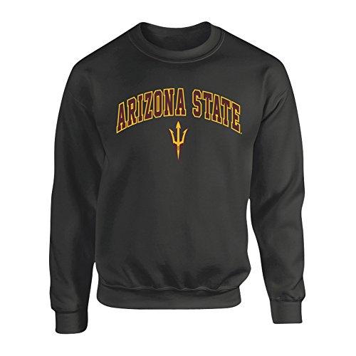 Arizona State Sun Devils Crewneck Sweatshirt Arch Heather Gray - XXL - Charcoal