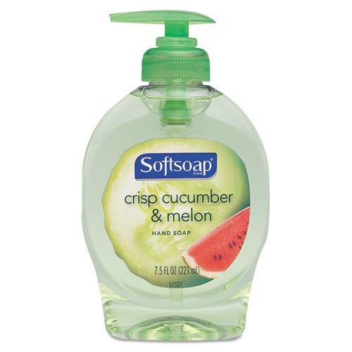 Softsoap Antibacterial Liquid Hand Soap, Cucumber & Melon, 7.5oz Pump Bottle - twelve 7.5 oz pump bottles per case.