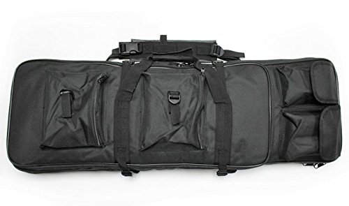 A&N Airsoft Gun Rifle Large Portable Carrying Bag Pack Storage Case 85cm MOLLE w/Accessory Pouches Compartments by A&N