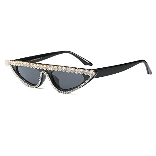 MINCL/Sexy Cat Womens Lady Diamond Luxury Sunglasses UV400 (black)]()
