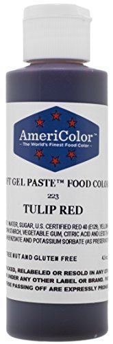 TULIP RED SOFT GEL PASTE 4.5 OZ Cake Decorating