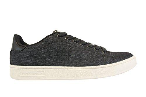 Sergio Tacchini Sneaker Grand Torino Lab Denim Deluxe Schuhe Herren 40 Gr. 43, Schwarz - Schwarz
