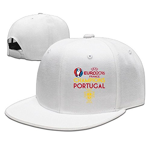 MaNeg Portugal 2016 Soccer Champion Unisex Fashion Cool Adjustable Snapback Baseball Cap Hat One Size - Seattle Dior