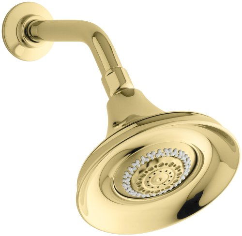 - KOHLER K-10284-PB Forte Multifunction Showerhead, Vibrant Polished Brass