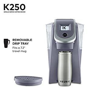 Keurig K250 Single Serve, K-Cup Pod Coffee Maker with Strength Control, Programmable, Plum Grey