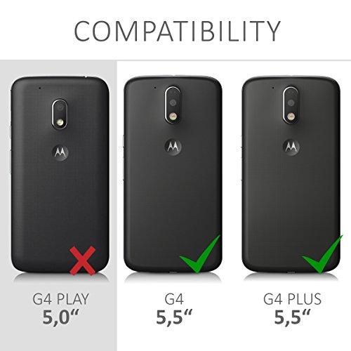 d169bcffd89 best kwmobile Funda para Motorola Moto G4 / Moto G4 Plus - Case para móvil  de