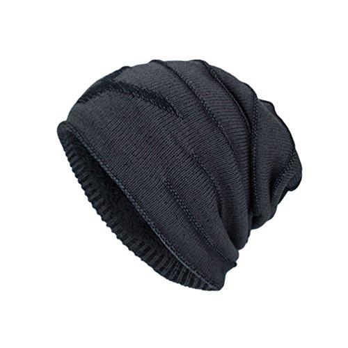 Diseño Gris Punto Cálido Carta de Adulto Hombre YiJee Jacquard Sombreros Invierno Gorro para Atractivo Oq8v6w