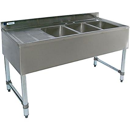 Amazon stainless steel bar sink 48 three compartment stainless steel bar sink 48quot three compartment workwithnaturefo