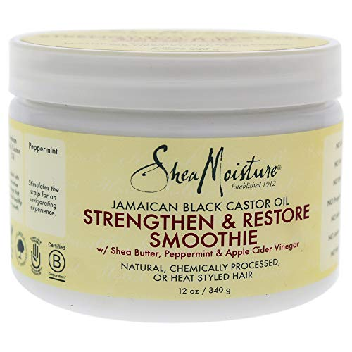 (Shea Moisture Jamaican Black Castor Oil Strengthen & Restore Smoothie Cream for Unisex, 11  Ounce)