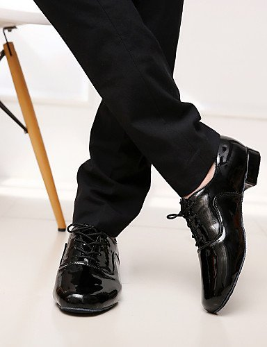 Customizable Black White White Leatherette Dance Men's Non Chunky ShangYi Modern Shoes Heel Hzn5wU
