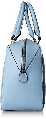 Silvian Heach RCP18047BO, Borsa a Mano Donna, Turchese (Blue Light), 17x28x38,50 cm