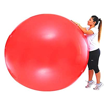 Fokine 6ft Round Balloons - Reusable Giant Jumbo Round Latex Climb-in Balloon for Wedding/Birthday Party Decorations- Red: Sports & Outdoors
