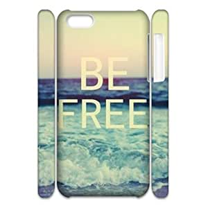 linJUN FENGCool Painting Be Free Customized 3D Cover Case for iphone 5/5s,custom phone case case581568