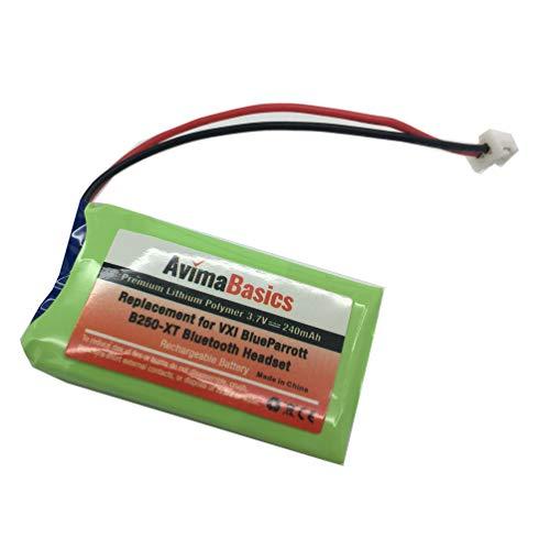AvimaBasics Premium Quality Replacement Rechargeable Battery for VXI Blue Parrott B250-XT B250-XT+ Wireless Bluetooth Headset Roadwarrior Blue Parrott 052030 502030 Blue Parrot PL602030