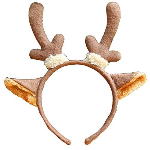 Cute Kids Animal Ear Headband for Halloween Christmas Birthday Party (Deer Ear)